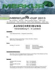 -CUP 201 33 AUSSCHREIBUNG