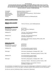 Ausschreibung - Schwimmverein Straubing eV