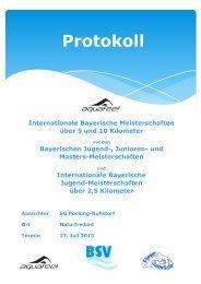 Intern. Bayerische Meisterschaften - 5 km / 10 km + 2,5 km der Jugend