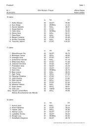 Ergebnisliste / Protokoll - Landesschwimmverband Tirol