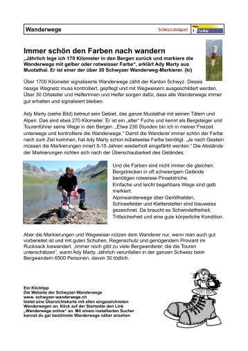 Wanderwege - schwyz+quer