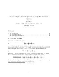The first integral of a homogeneous linear partial differential ... - CUNY