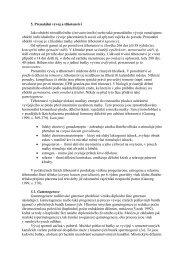 5. Prenatální vývoj a těhotenství Jako období nitroděložního ...