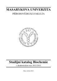 Studijní katalog Biochemie - Masarykova univerzita