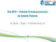Fussball-Ferien im Verein - BFV Feriencamps & Fussballschulen ...