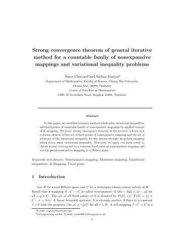 Strong convergence theorem of general iterative method for a ...