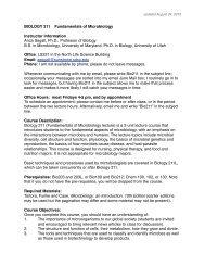BIOLOGY 211 Fundamentals of Microbiology Instructor ... - SDSU
