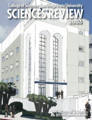 sciences review web 2003 - The College of Sciences - SDSU