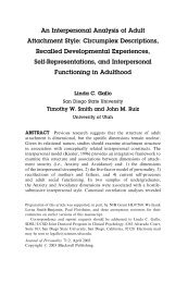 An Interpersonal Analysis of Adult Attachment Style - San Diego ...