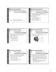 1 Geography Markup Language Sistemi Informativi Geografici Dati ...