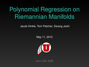 Polynomial Regression on Riemannian Manifolds