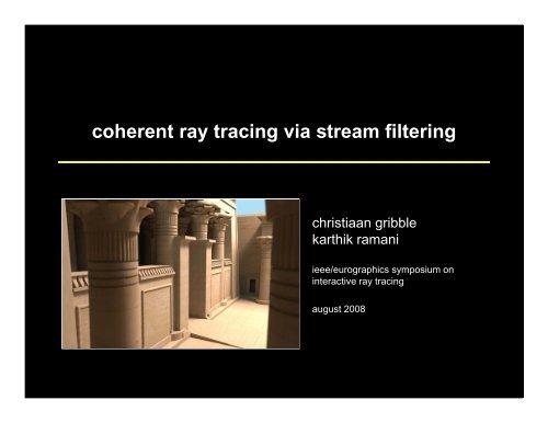 PDF slides - Scientific Computing and Imaging Institute