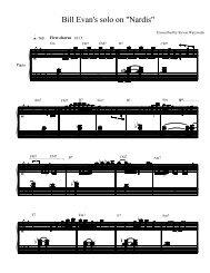 Bill Evans solo on Nardis (pdf)