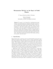 Riemannian Metrics on the Space of Solid Shapes - Scientific ...