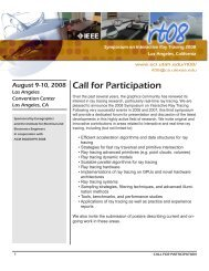 Call for Participation - University of Utah