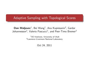 Adaptive Sampling with Topological Scores - University of Utah