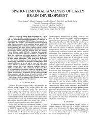 spatio-temporal analysis of early brain development - Scientific ...