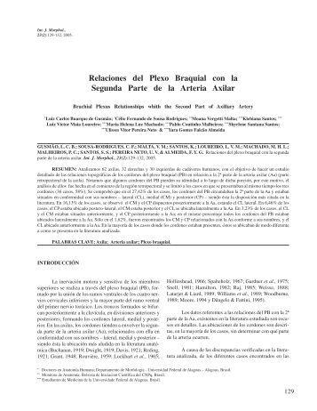 Relaciones del Plexo Braquial con la Segunda Parte de la ... - SciELO