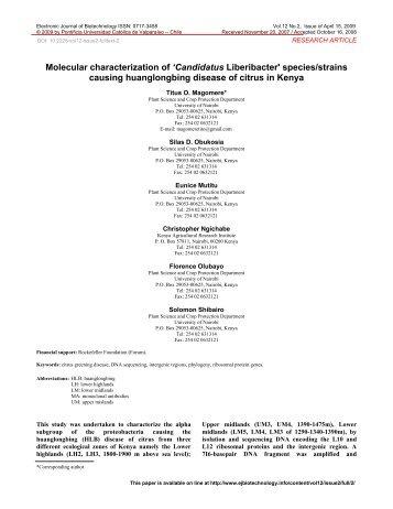 Reprint PDF - Electronic Journal of Biotechnology