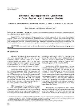 Sinonasal Mucoepidermoid Carcinoma: a Case Report ... - SciELO