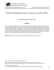 Supply Chain Management Practices as a Support to Innovation in ...