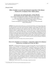 Effect of salinity on growth and chemical composition of the ... - SciELO