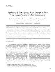 Localization of Sugar Residues in the Stomach of Three ... - SciELO