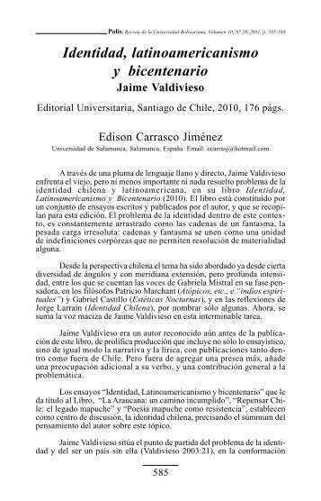 Identidad, latinoamericanismo y bicentenario - SciELO