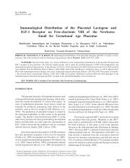 Immunological Distribution of the Placental Lactogene and ... - SciELO