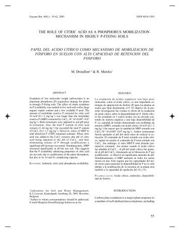 the role of citric acid as a phosphorus mobilization ... - SciELO