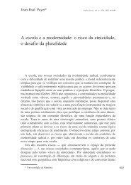 A escola e a modernidade: o risco da etnicidade, o ... - Análise Social