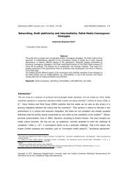 Networking, Multi-platformity and Intermediality ... - SciELO - Site