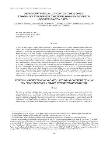 Acta de Psicología Vol 13 no 2 2010 Ene 14.indd - Universidad ...