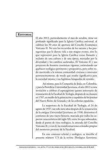El año 2012, particularmente el mes de octubre ... - SciELO Colombia