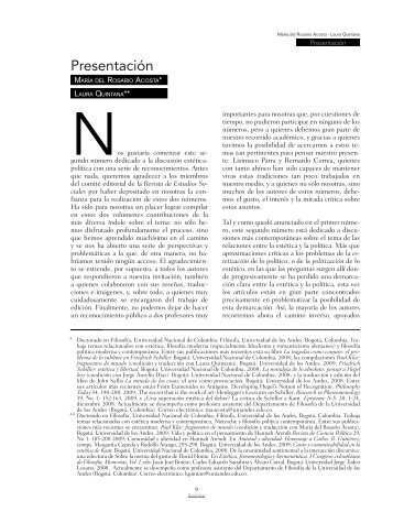 Presentación - SciELO Colombia