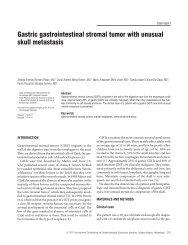 Gastric gastrointestinal stromal tumor with unusual skull metastasis