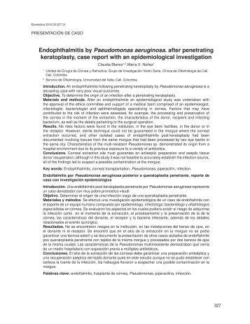 Endophthalmitis by Pseudomonas aeruginosa. after penetrating ...