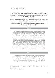 identificación de parásitos gastrointestinales en primates ... - SciELO