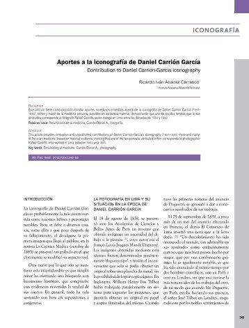 Aportes a la iconografía de Daniel Carrión García Ricardo ... - SciELO