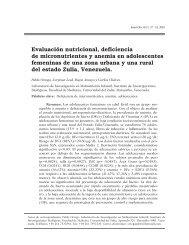 Evaluación nutricional, deficiencia de micronutrientes y ... - SciELO
