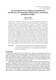 The development of an enabling self-administered questionnaire for ...