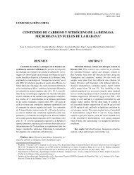 Contenido de Carbono y nitrógeno de la biomasa ... - SciELO