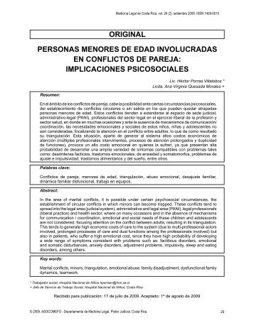 oRIGINAL PERSoNAS MENoRES DE EDAD ... - SciELO