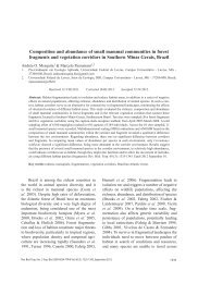 Composition and abundance of small mammal ... - SciELO