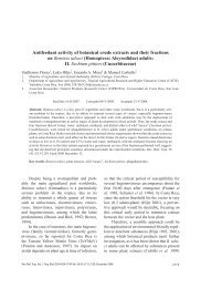 Antifeedant activity of botanical crude extracts and their ... - SciELO