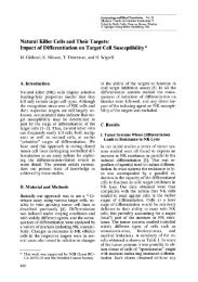 Natural Killer Cells and Their Targets: Impact of Differentiation on ...