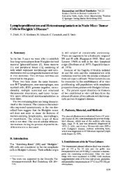 Lymphoproliferation and Heterotransplantation in Nude Mice: Tumor ...