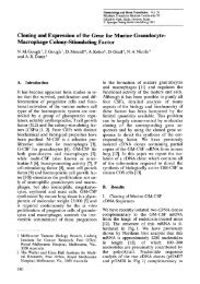 Cloning and Expression of the Gene for Murine Granulocyte ...