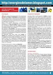 lettre n°10 novembre 2008