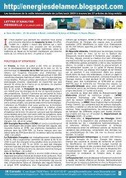 Lettre n°18 juillet et août 2009 - Les entretiens science et éthique